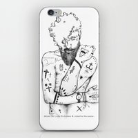 the dude iPhone & iPod Skins featuring Dude by LSjoberg