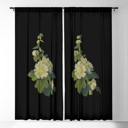 Alcea Rosea by Mary Delany Paper Collage Floral Flower Botanical Mosaic Vintage Scientific Plant Ana Blackout Curtain