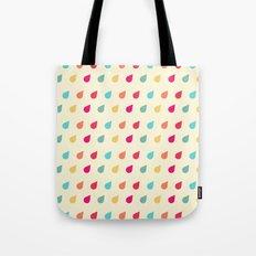 Retro Raindrops Pastel Pattern Tote Bag