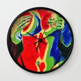 Thermal Sensual Woman Oil Painting Wall Clock