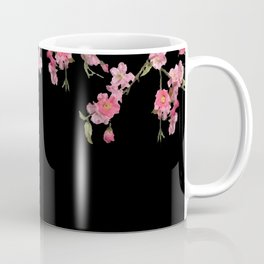 Cherry Flowers with black background Coffee Mug
