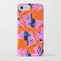 orange pattern iPhone & iPod Cases featuring Orange Pattern by Sarah Bagshaw