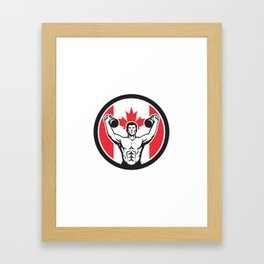 Canadian Physical Fitness Canada Flag Icon Framed Art Print