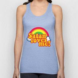 Satan Loves Me Rainbow - Atheism Anti Religion Unisex Tank Top