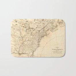 Map of North America (1768) Bath Mat