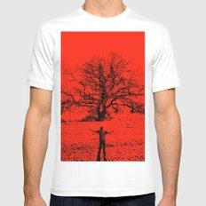 sacred tree White MEDIUM Mens Fitted Tee