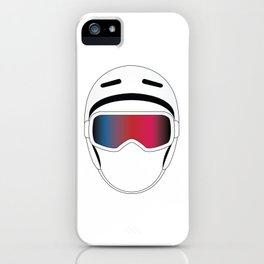 Snowboard Helmet and Goggles iPhone Case