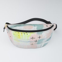 Abstract Pink Yellow Fanny Pack