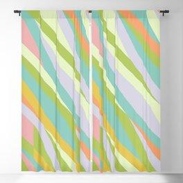 Vintage stripe multi colored pattern Blackout Curtain