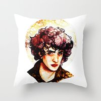 grantaire Throw Pillows featuring Grantaire watercolour by chazstity