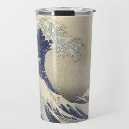 The Great Wave off Kanagawa by Hokusai Travel Mug