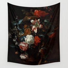 """Philip van Kouwenbergh """"Flowers in a Vase"""" Wall Tapestry"""