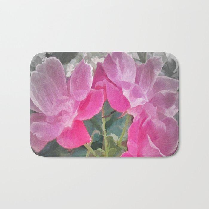 Iced Blossoms Bath Mat