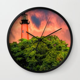 Jupiter Inlet Light Wall Clock