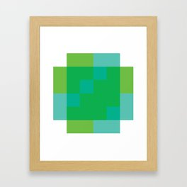 Ocean Pixel Views Framed Art Print