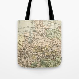 Old and Vintage Map of Germany Outline Tote Bag