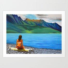 Epuyén Lake  Art Print