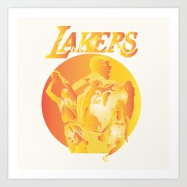 Lakers Art Print