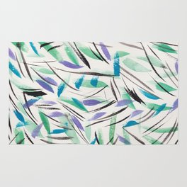 15 | Watercolor Patterns Abstract 181214 Rug