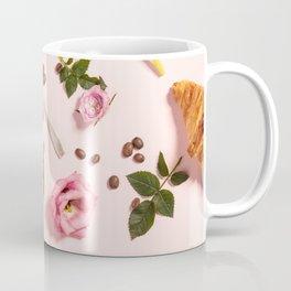 Morning coffee, croissants and a beautiful flowers Coffee Mug