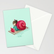Cozy snail Stationery Cards