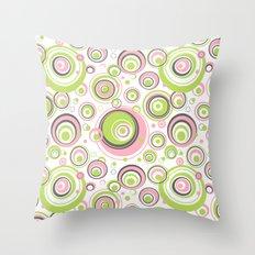 Scrambled Circles Throw Pillow