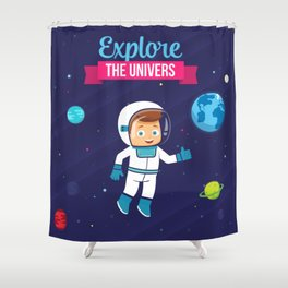 Explore the Univers Shower Curtain