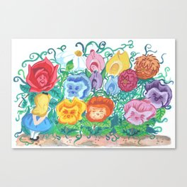 You Can Learn A Lot Of Things From The Flowers Canvas Print