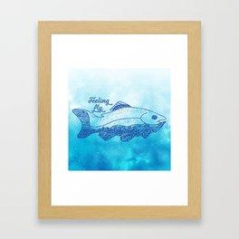Feeling Fly Framed Art Print