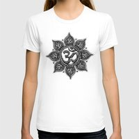 ohm T-shirts featuring Ohm Symbol Flower Tattoo by Emma Lettera