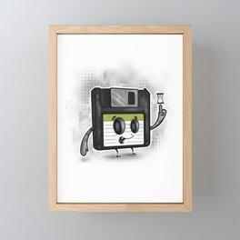 Floppy Disc Dave Framed Mini Art Print