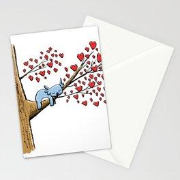 Cute Koala in Tree of Hearts Stationery Cards