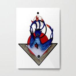 Sulfur Phoenix Metal Print