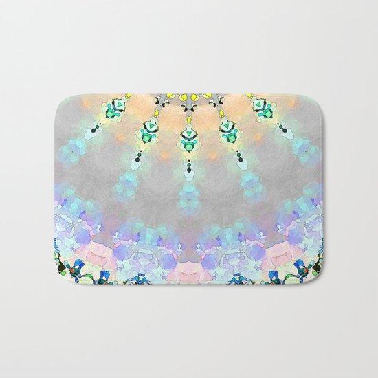 Abstract Sunshine Mosaic Bath Mat