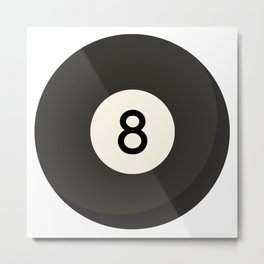 Eight Ball Metal Print