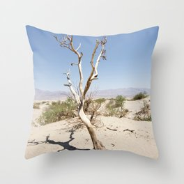 Tree branch Dune Death Valley Throw Pillow