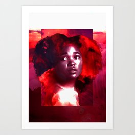 Her Head's in the Clouds Art Print