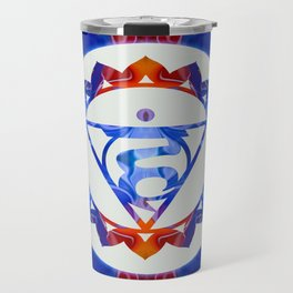 16 Lotus Petals Vishuddha Abstract Chakra Art Travel Mug