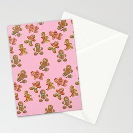 Android Eats: gingerbread pattern Stationery Cards