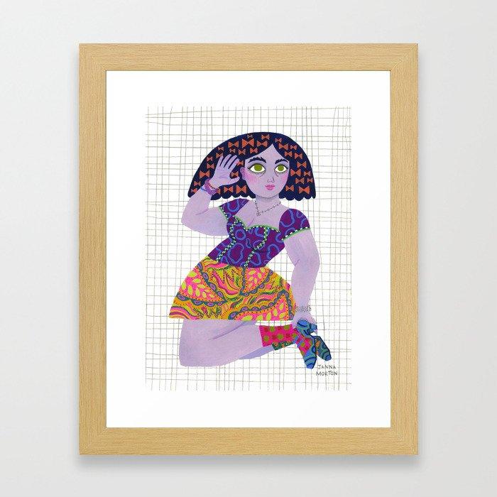 Bow Girl Framed Art Print
