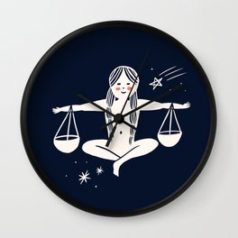 Libra - Scales, Zodiac, Horoscope, Astrology, Sign Wall Clock