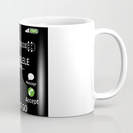 My Ukulele Is Calling Music Band Artist Ukulele Coffee Mug
