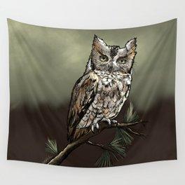 Screech Owl Wall Tapestry