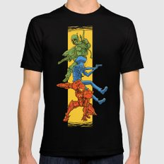 Universe Mighties Bounty Hunters Mens Fitted Tee LARGE Black