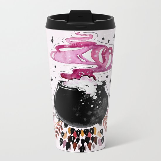 Fire Burn and Cauldron Bubble Metal Travel Mug
