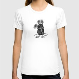 Rat with Flower #4 T-shirt