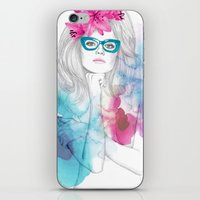 glasses iPhone & iPod Skins featuring Glasses by Camis Gray