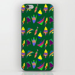 FISHES ON GREEN iPhone Skin
