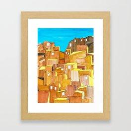Hills of Santiago Framed Art Print