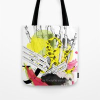 howl Tote Bags featuring Howl  by Stephanie Trevania